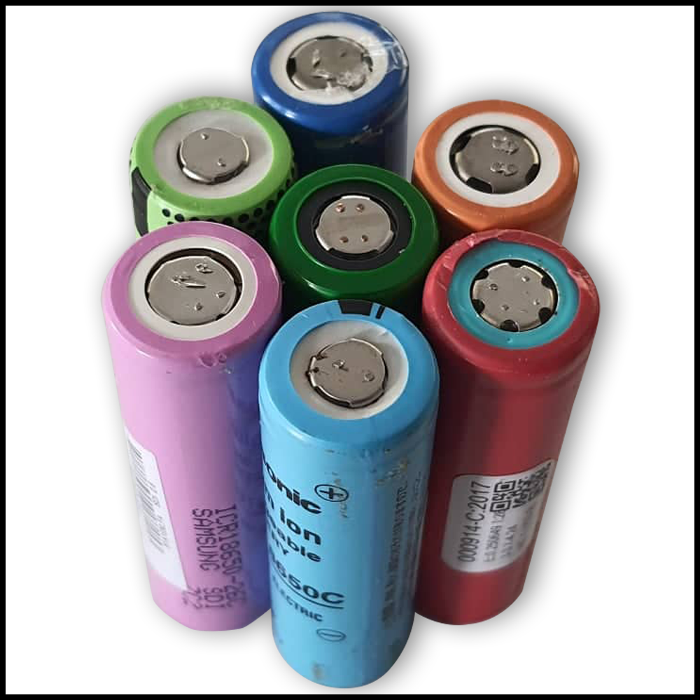 18650 Li-Ion Cell from Laptop Batteries, 2000-2200 mAh Capacity