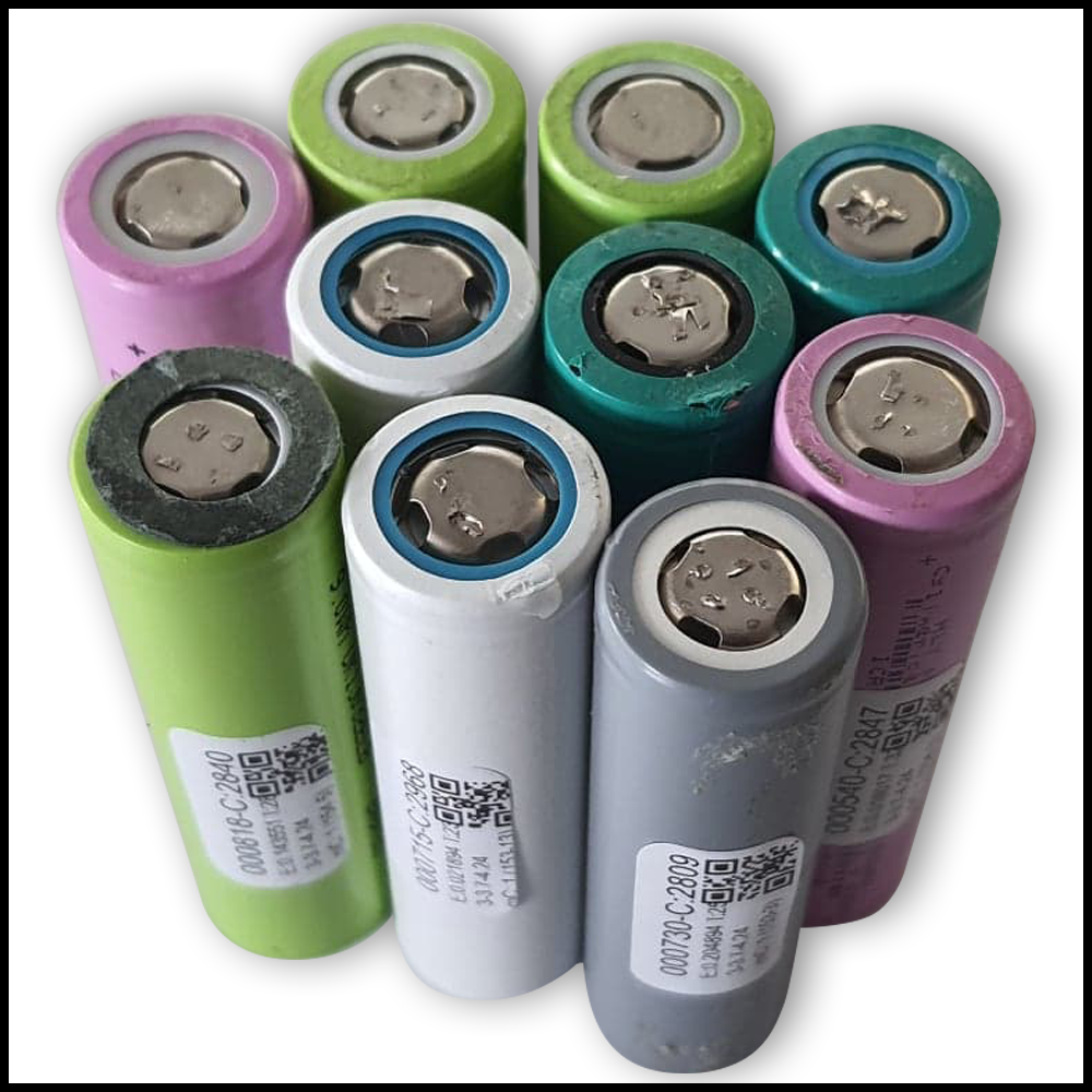 18650 Li-Ion Cell from Laptop Batteries, 2800-3000 mAh Capacity